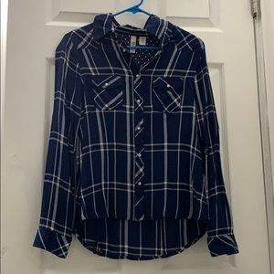 Route 66 Blue Long sleeve Flannel